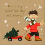 Christmas Card - Special Little Boy - Three French Hens