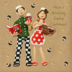 Christmas Card - Deliciously Festive Christmas - Three French Hens
