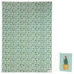 Cactus Plant Design Gift Wrapping Paper Sheet & Tag