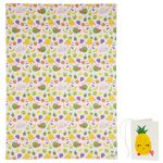Fruit Faces Design Gift Wrapping Paper Sheet & Tag