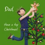 Christmas Card - Dad Top Christmas - Funny Humour One Lump Or Two