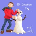 Christmas Card - Son Just Chill - Funny Humour One Lump Or Two