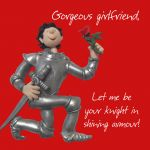 Valentines Day Card - Girlfriend Knight in Shining Armour - Funny Humour One Lump Or Two