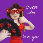 Valentines Day Card - Guess who... Loves You! - Funny Humour One Lump Or Two