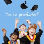 Graduation Card - You've Graduated Students - One Lump Or Two