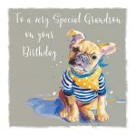 Birthday Card - Grandson - French Bull Dog - The Wildlife Ling Design