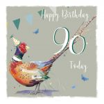 90th Birthday Card - Pheasant - The Wildlife Ling Design
