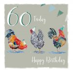 60th Birthday Card - Chickens Design - The Wildlife Ling Design