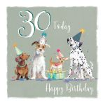 30th Birthday Card - Dog Design - The Wildlife Ling Design