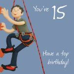 15th Male Birthday Card - Top Birthday Rock Climbing One Lump Or Two