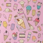 Ice Cream Lolly Gift Wrapping Paper Sheet & Tag