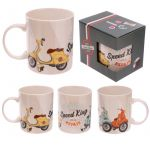 Scooter Moped Vespa Novelty Bone China Boxed Mug