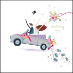 Wedding Day Card - Car - Modern - The Curious Inksmith