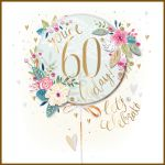60th Birthday Card - Female 60 Today - Clementine Talking Pictures