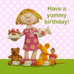 Birthday Card - Cute Tea Party - Girl - Ferdie & Friends