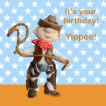 Birthday Card - Cute Cowboy - Boy - Ferdie & Friends