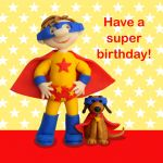 Birthday Card - Cute Superhero Dog - Boy - Ferdie & Friends