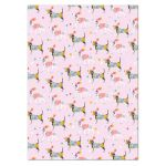 Dog Basset Dalmatian Luxury Gift Wrap Sheet & Tag Louise Tiler