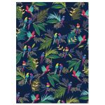 Parrot Tropical Blue Luxury Gift Wrap Sheet Sara Miller