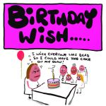 Birthday Card - I wish everyone was dead - Adult Rude Funny - Something David