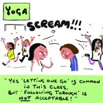 Birthday Card - Yoga Following Through - Adult Rude Funny - Something David