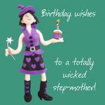 Birthday Card - Wicked Step Mother - Female Funny One Lump Or Two