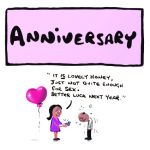 Wedding Anniversary Card - Better Luck Next Year - Adult Rude Funny - Something David