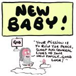 New Baby Card - Your Mission - Adult Rude Funny - Something David