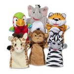 Melissa & Doug Safari Friends Buddies Hand Puppet Set of 6