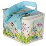 Birds Blue Tit Garden Flowers Picnic Cool Bag Lunch Box