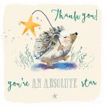 Thank You Card - 5 x Notelets - Hedgehog - Ling Design