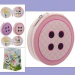 Handy Button Shaped Sewing Kit with 15 items Gift Set - Free Gift Bag
