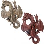 Winged Dragon - Ornament Wall Hanging - Indoor or Outdoor - 2 Colours Grey Red
