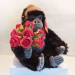 Valentine's Day Gorilla Plush Soft Toy Roses - Realistic - 30cm - Keel