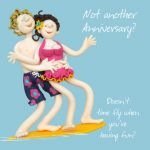 Wedding Anniversary Card - Not Another? Wife Husband One Lump Or Two