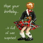 Birthday Card - Male Wee Surprises Scottish Funny One Lump Or Two