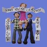 Sorry Your Leaving Card - From All Of Us - Office Work Group Hug One Lump Or Two