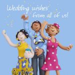 Wedding Day Card - From All Of Us - Office Work Group Hug One Lump Or Two
