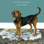 Greetings Card - Jura Hound - Masterpiece - The Little Dog