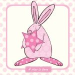New Baby Card - Girl - A Star is Born Pink - Rufus Rabbit