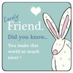 Lovely Friend Coaster - Ruffus Rabbit