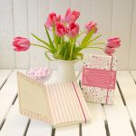 New Mummy Journal Notebook - Flowers Pink - Rufus Rabbit
