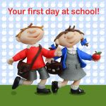 Greetings Card - First Day At School - Ferdie & Friends