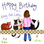Birthday Card - Crazy Cat Lady - Female - Sparkle - Alex Clark
