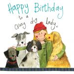 Birthday Card - Crazy Dog Lady - Female - Sparkle - Alex Clark