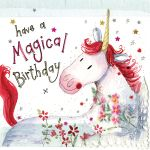 Birthday Card - Magical Unicorn - Female - Sparkle - Alex Clark