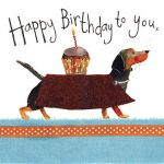Birthday Card - Dachshund Sausage Dog - Sparkle - Alex Clark
