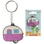 Caravan Home is Where You Park It Novelty PVC Keyring & Key Cover