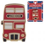 London Red Bus Design Enamel Pin Badge