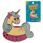Vacation Vibes Unicorn Design Enamel Pin Badge